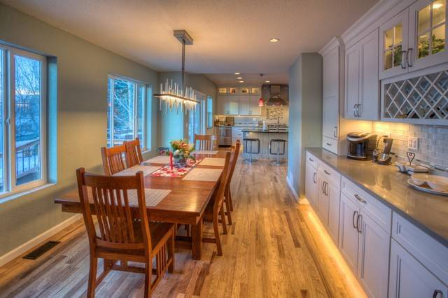 Galley Kitchen Into Open Entertaining Space Contemporary