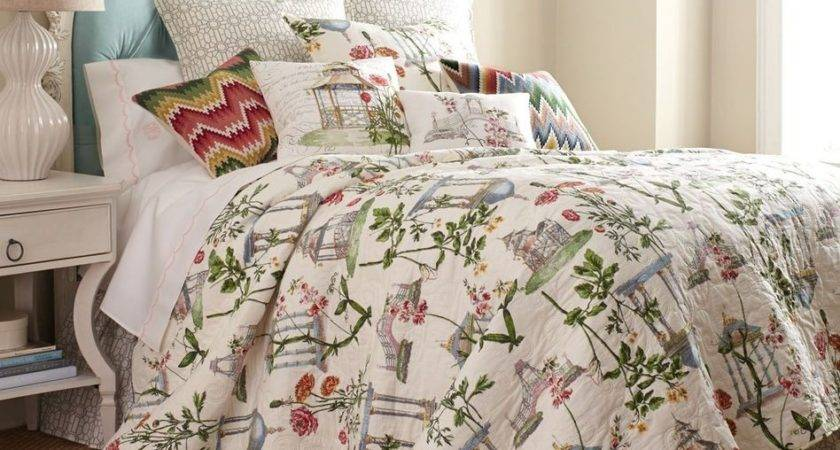 Garden Folly Queen Quilt Set French Country Cottage