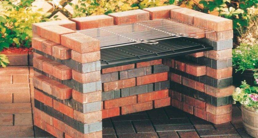 Gas Burning Fire Pits Charcoal Brick Grill Designs