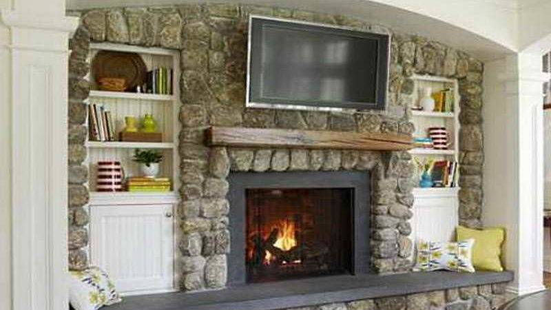 Gas Fireplace Above