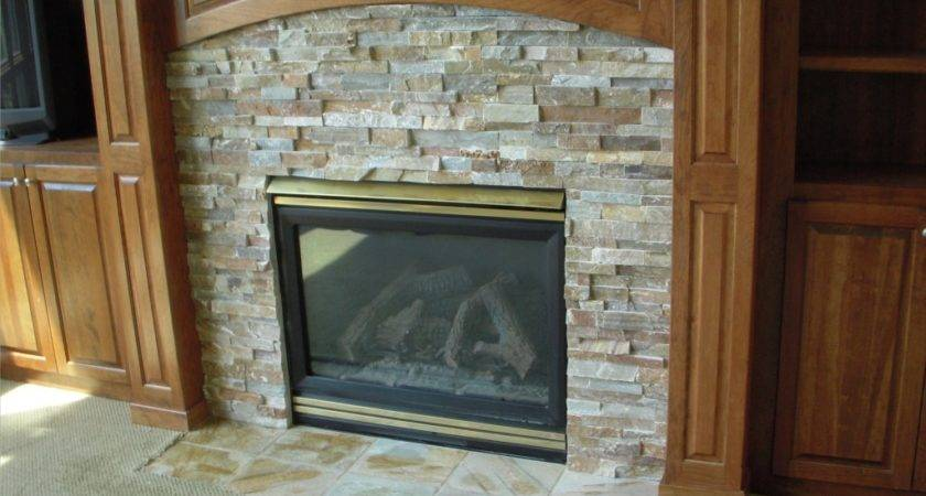 Gas Fireplace Stone Surround Tile Contractor Creative
