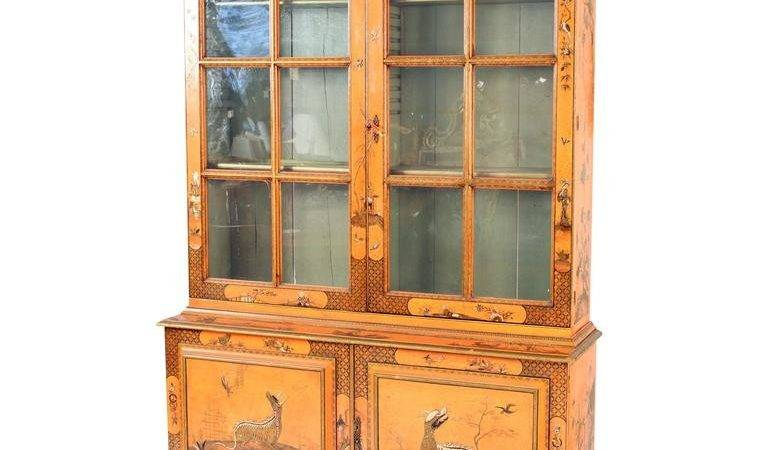George Iii Style Chinoiserie Decorated China Cabinet