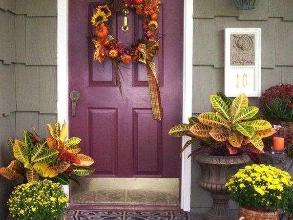 Get Into Seasonal Spirit Fall Front Door Cor Ideas