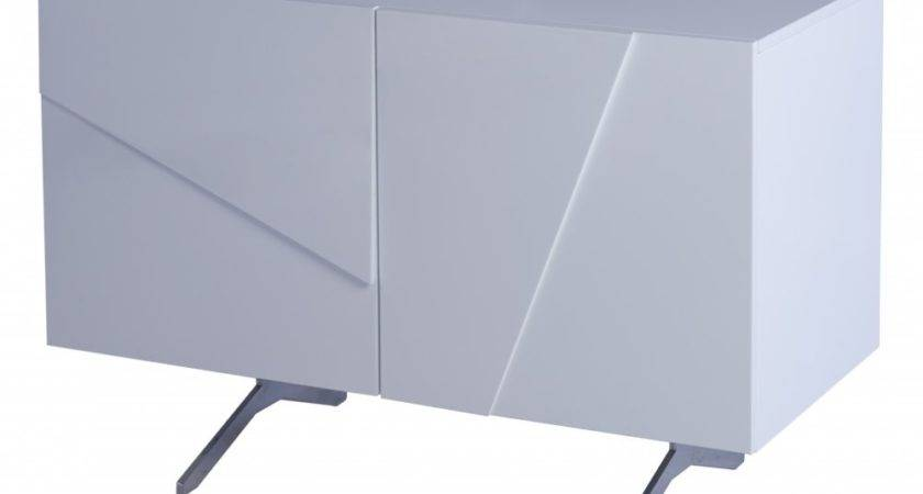 Gillmore Space White Lacquer Small Buffet Sideboard