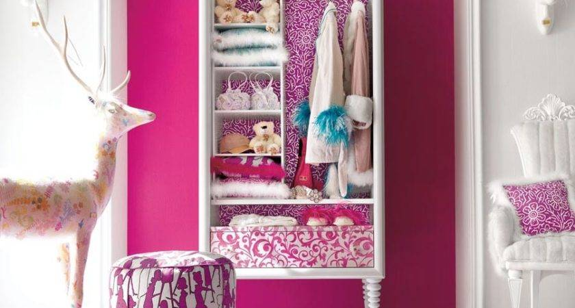 Girl Bedroom Furniture Pink Color Deer Doll
