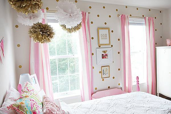 Girl Room Pink White Gold Decor Hometalk