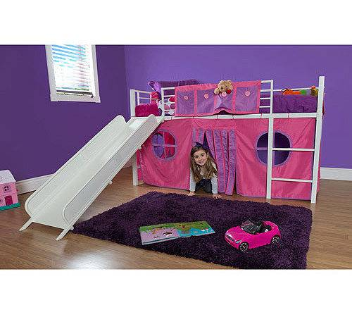 Girl Twin Loft Bed Slide Walmart
