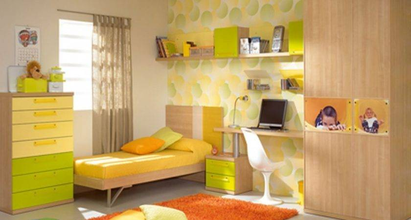 Girls Bedroom Magnificent Green Yellow Color Nuance