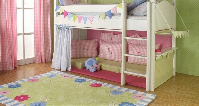 Girls Cabin Bed Canopy Curtains Cushions