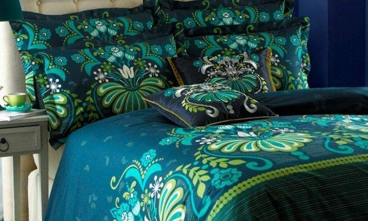 Glamour Teal Luxury Reversible Printed Duvet Cove Bedding