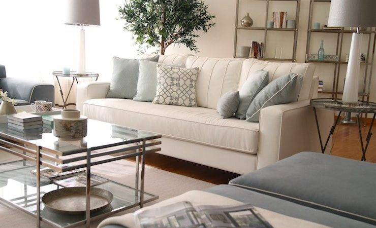 Glass Coffee Table Transitional Living Room Ana Antunes