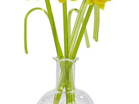 Glass Flower Vase Ornament Fifty Plus
