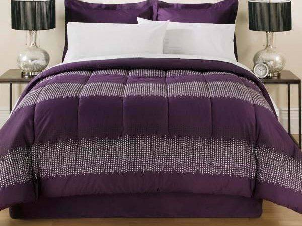 Glitter Purple Teen Bed Bag Bedding