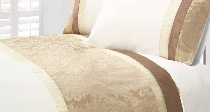 Gold Beige Colour Modern Stylish Damask Bedding Quality