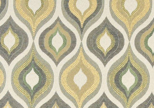 Gold Blue Green Bright Contemporary Upholstery
