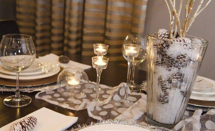Gold Silver Christmas Table Decorations