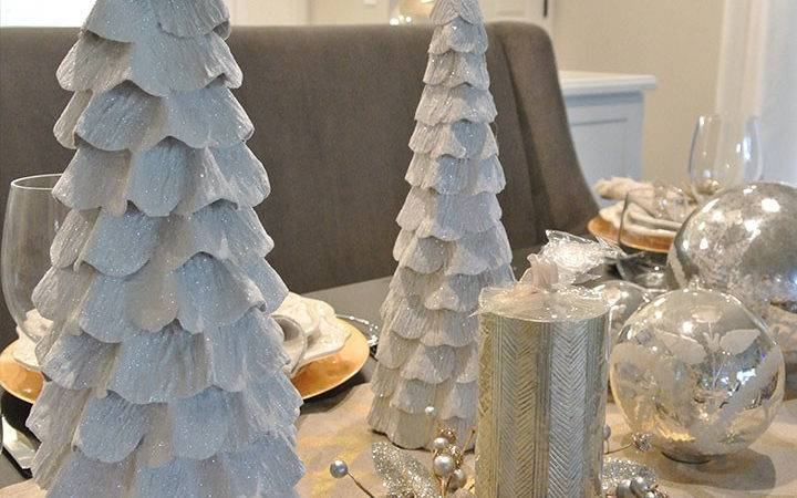 Gold Silver Christmas Tablescape Featuring World