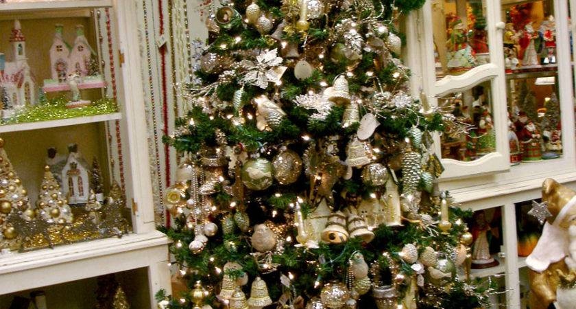 Gold Silver Holiday Decor Ornaments