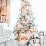 Gold White Christmas Tree Home