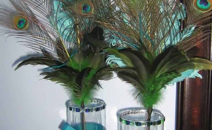 Good Peacock Feather Decorations Weddings Table