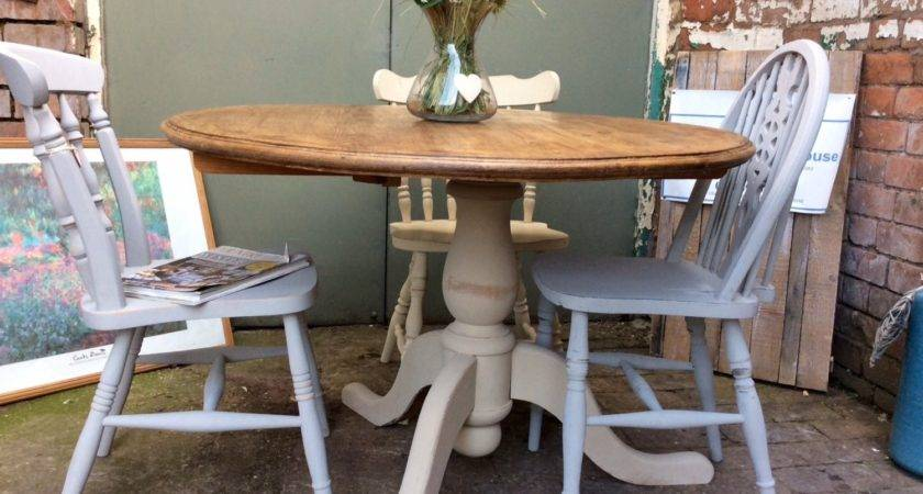 Gorgeous French Country Cottage Style Cream Pedestal