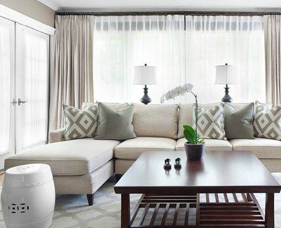 Gorgeous Monochromatic Living Room Design Grey Wall