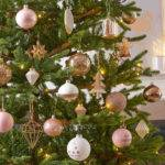 Gorgeous Pink Gold Christmas Decoration Ideas