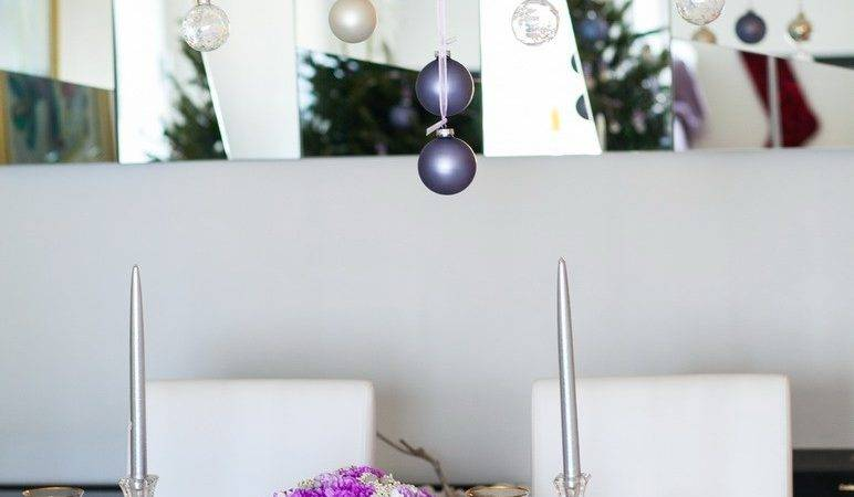 Gorgeous Purple Silver Holiday Decor Art