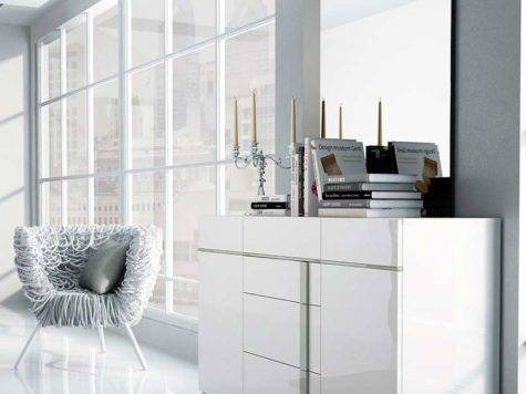 Grande Modern Bedroom Set White Color
