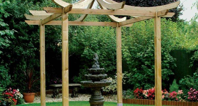 Grange Japanese Pergola Anchoring Options Fsc Approved