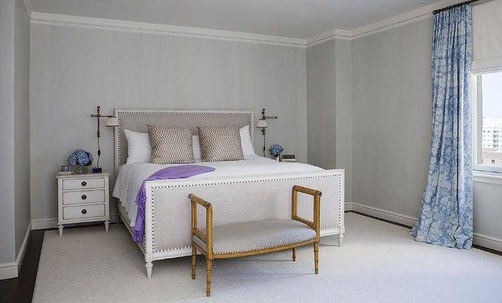 Gray Bedroom Purple Accents
