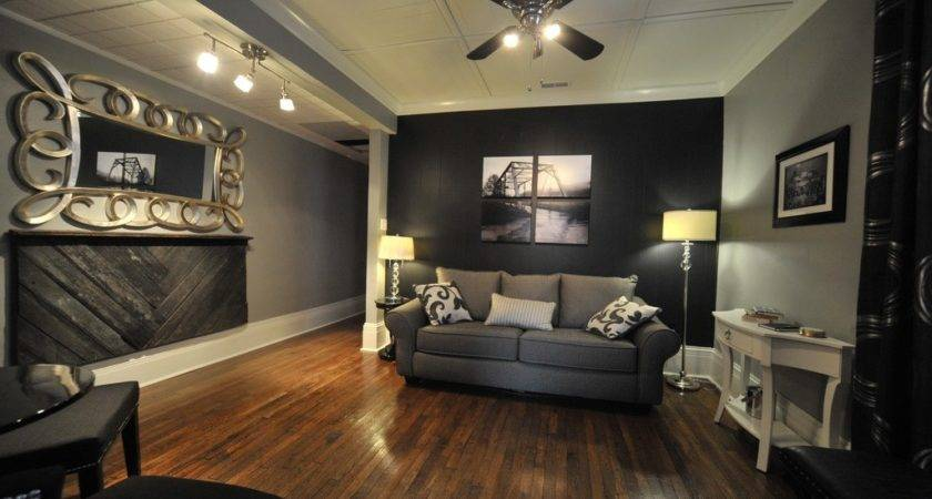 Gray Black Living Rooms Client Reveal White