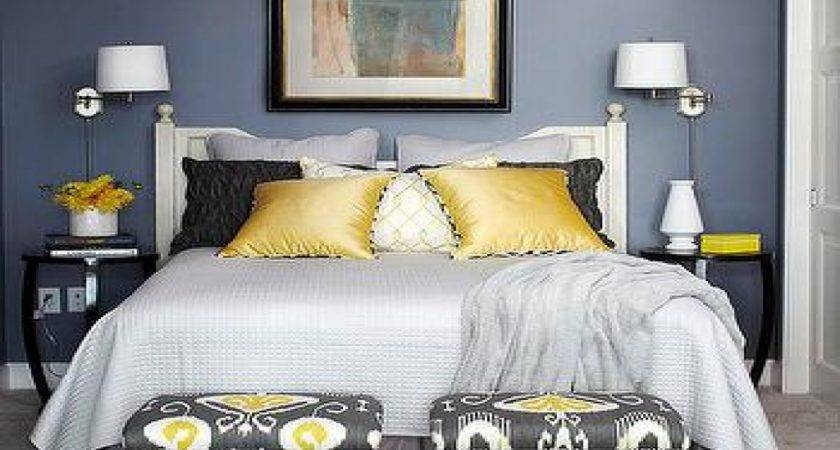 Gray Blue Yellow Bedroom