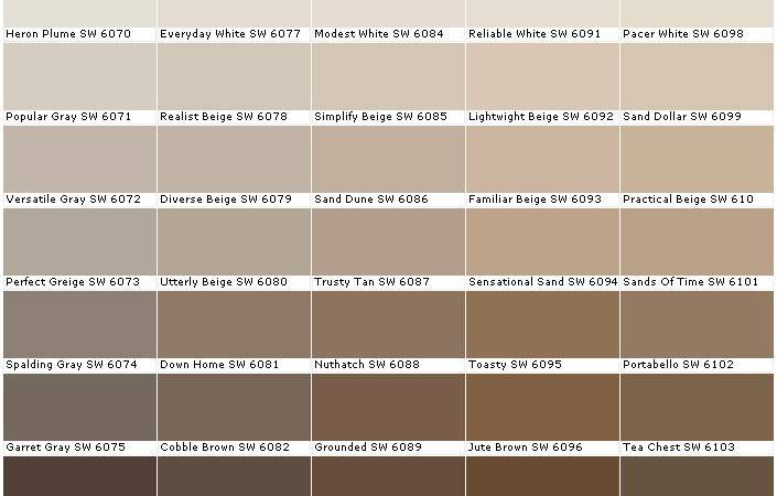 Gray Brown Paint Sherwin Williams