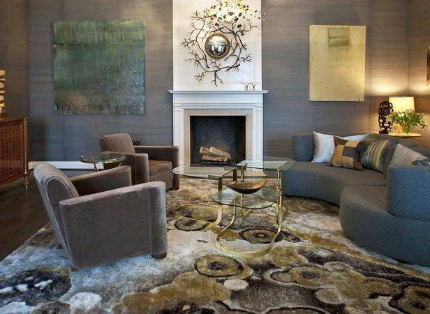 Gray Contemporary Living Room White Fireplace Hgtv