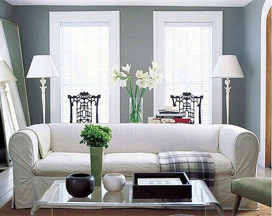 Gray Living Room Casual Cottage