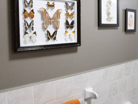 Gray Orange Bathroom Design Contemporary