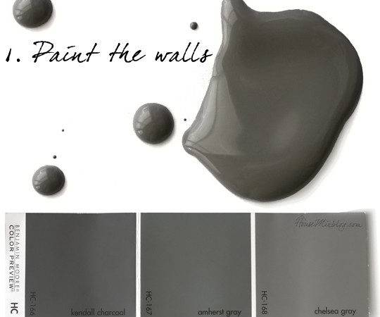 Gray Paint Charcoal Color Dining