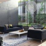 Gray Platform Sofas Interior Design Ideas