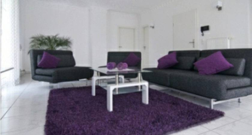 Gray Purple Living Room Ideas Advice Your Home