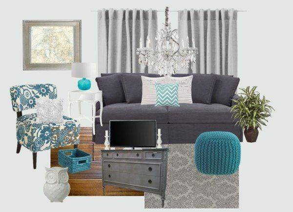 Gray Turquoise Living Rooms Google Search