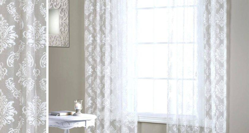 Gray Walls White Curtains Home Trends