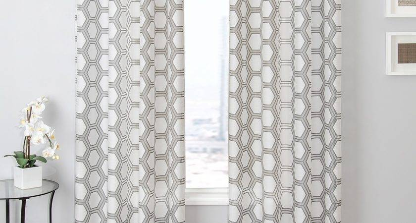 Gray White Patterned Curtains Curtain Menzilperde
