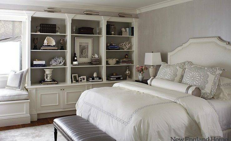 Gray White Room Transitional Bedroom New England