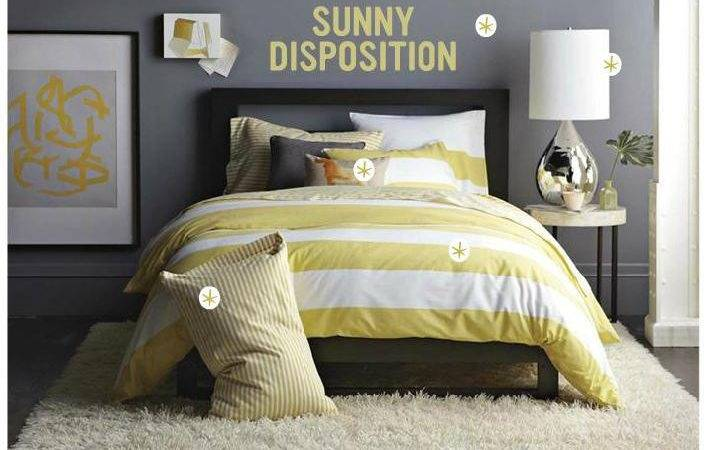 Gray Yellow Bedroom Benjamin Moore Shadow Wes
