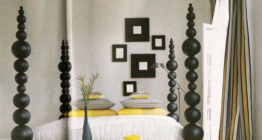 Gray Yellow Bedroom Curtains Ideas