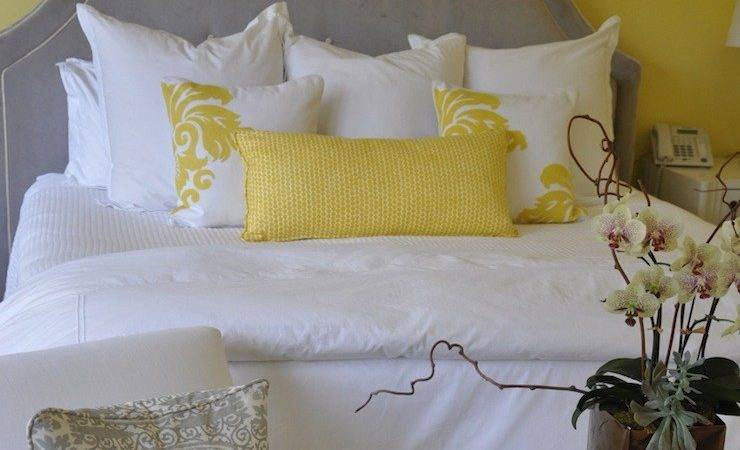 Gray Yellow Bedroom Ideas Contemporary