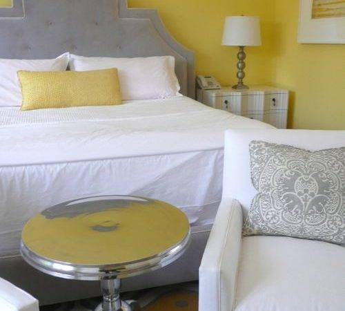 Gray Yellow Bedroom Inspiration