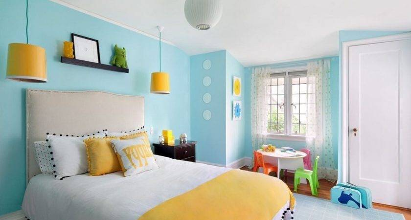 Great Color Combination Blue Yellow Bedroom Live