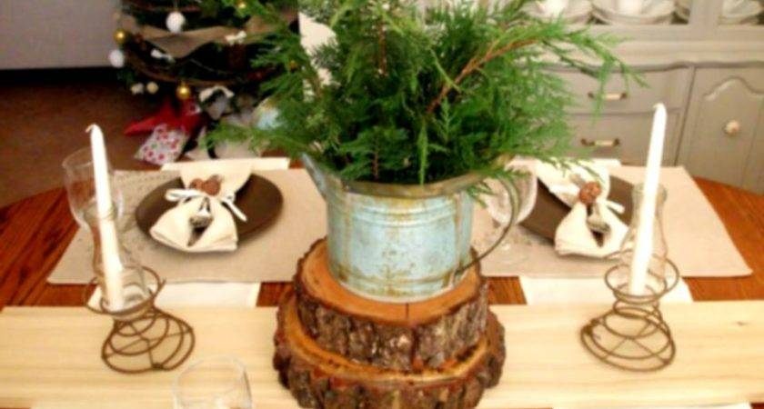 Great Rustic Christmas Table Decorations Ideas